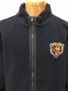 NFL Chicago Bears Blue Lined Fleece Zip-Front Jacket 2XL #NFL #ChicagoBears