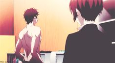 Akane Tsunemori and Shinya Kogami. // I feel like dying whenever there's indirect flirting between these two.