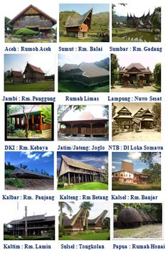Image result for rumah adat di indonesia dan daerah asalnya