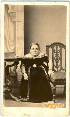 Carrie Akers, ca. 1860, 3 foot tall