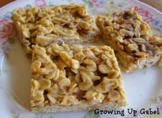No Bake Bar Cookies: Ingredients •½ cup coconut oil •½ cup honey •⅓ cup peanut butter •3 cups oatmeal •½ cup butterscotch chips •½ cup chocolate chips