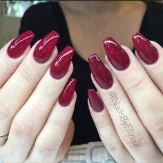 """@nailsbyelize Raspberry red  "" Photo taken by @vegas_nay on Instagram, pinned via the InstaPin iOS App! http://www.instapinapp.com (06/03/2015)"