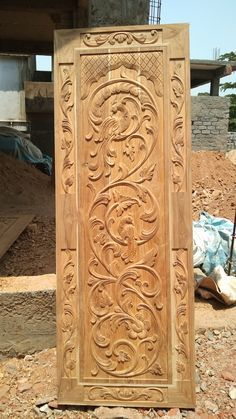 67 Ideas for teak wood main door design with carving Door Design Images, Home Door Design, Pooja Room Door Design, Bedroom Door Design, Door Gate Design, Wooden Glass Door, Wooden Front Door Design, Main Entrance Door Design, Wooden Doors