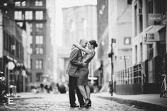 Engagement Shoot Styling by fashion stylist Tiffany Pinero in Dumbo Brooklyn