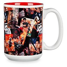 Star Wars: The Force Awakens Collage Mug | Disney Store Here's the perfect mug for that ''First Order'' of coffee in the morning, featuring a collage of your favorite characters from <i>Star Wars: The Force Awakens</i>.