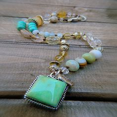 Southwest Boho Western Cowgirl Boho Mixed Gemstone & by JAYB99, $35.00