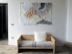 """This weaving was collaboration between Ana Kras and Confettisystem. All over Villa Lena, there were remnants of art projects that people had done here and there."""