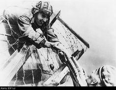 Soviet tank soldier and prisoner 1945