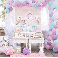 This weekend's magical set up by Christina @mjkreations #party #unicorn #unicornparty #oc#girlsparty #pretty#magical#