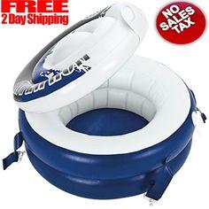"Intex River Run Connect Inflatable Floating Beverage Cooler  Lid 22.5"" Diameter #Intex"