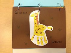 G is for Giraffe- draw neck with finger, add yarn for hair and an eye. Alphabet Phonics, Teaching The Alphabet, Alphabet Book, Preschool Classroom, Preschool Activities, Classroom Ideas, School Projects, Projects For Kids, School Ideas