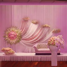 Eva Madeleina Haute Floral & Event Decor Mandap/Stage Decor perfect for a pink theme south Asian wed Marriage Decoration, Wedding Stage Decorations, Anniversary Decorations, Flower Decorations, Desi Wedding, Wedding Events, Weddings, Pink Themes, Event Decor