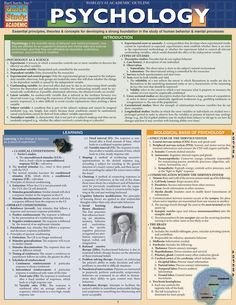 Psychology: Counseling & Psychotherapy Laminated Study Guide - BarCharts Publishing Inc makers of QuickStudy Psychology Student, Psychology Quotes, Color Psychology, Psychology Meaning, Learning Psychology, Psychology Courses, Forensic Psychology, Psychology Major, Educational Psychology