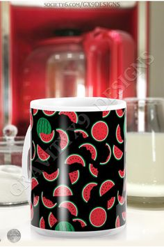 * Refreshing Melon Pattern * Watermelon Slices and Wedges Coffee Mug by #Gravityx9 at Society6 * Custom coffee mugs * custom drink ware * coffee mugs gift ideas * personalized coffee mugs gift ideas * generic gift coffee mugs * unisex gift ideas * gift ideas coworker * gift ideas friends * gift ideas adults * gift ideas coffee lovers * #coffeemug #custommug #drinkware #drinkwares #mug #kitchenware #watermelonpattern #pattern #food #fruit #melonslices #Watermelon #melons #blackandred 0820