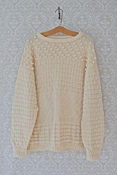 Vintage 1970s Handknit + Irish Fisherman Sweater