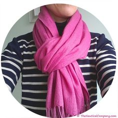 Today I am wearing our merino wool #Breton tunic dress with a fuschia cashmere pashmina scarf. Love that dress, which we first started stocking over 6 years ago and yet still in an impeccable condition. This is the type of quality garments we specialise in  Shop at thenauticalcompany.com #shipworldwide #bretondress #merinowool #stripes #stripeaddict #stripydress #bretonloversunite #womenswear #womenfashion #nautical #nauticalfashion #fashion #fashionlover #fashionable #fashionista #fashi...