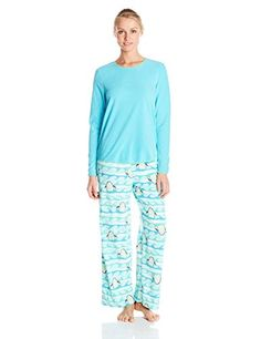 304bf5ce3c Hue Sleepwear Women s Artic Wave Fleece Pajama Set