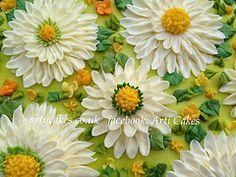 Buttercream daisy cake by articakes