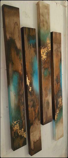 Sam Brown abstract panels #Kunst #Treibholz #Meer #Ostsee