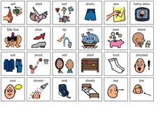 sh/s minimal pair pictures. Boardmaker Share