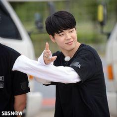 BTS and Running Man! Jimin shooting me with his heart gunn!