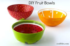 DIY Painted Fruit Bowls