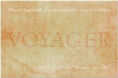 Book Three: The first & last line in Voyager