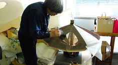 The making of an Akari Light Sculpture at the Ozeki Headquarters in Gifu, Japan.