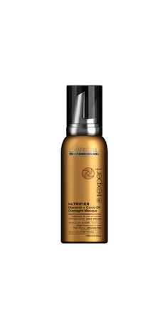 A new generation of complete nutrition for dry, undernourished hair. Mousse, Coco Oil, Routine, L'oréal Professionnel, Overnight Mask, Complete Nutrition, Loreal, Hair Care, Perfume Bottles