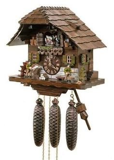 Black Forest Cuckoo Clock with Wood Workers and Dancers  8TMT-583-9. h1Black Forest Cuckoo Clock with Wood Workers and Dancers  8TMT-583-9_h1The Black Forest Cuckoo Clock with Wood Workers and Dancers 8TMT-583-9. This is a very detailed clock. The roof is covered with handspliced shingles... . See More Cuckoo Clocks at http://www.ourgreatshop.com/Cuckoo-Clocks-C1122.aspx