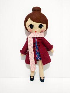 Georgia retro cute felt softie doll  by loulovesthis, £45.00