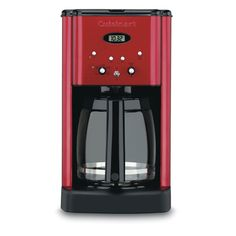 Cuisinart DCC-1200MR 12-CUP Programmable Coffeemaker 12 Cup Metallic Red (Certified Refurbished) => Hurry! Check out this great item : Coffee Maker