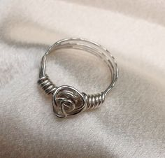 Sterling silver ring. Made to order.