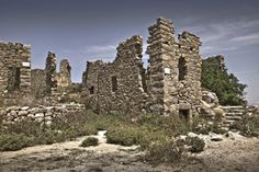 Resting on a hill overlooking the coast, these medieval ruins look completely deserted save for their restored chapel