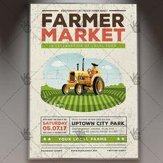 Food Festival - Premium Flyer PSD Template.  #farm #farmtotable #farmersmarket #festival #food #fresh #fruit #harvest #market #natural #organic #vegetables #vintage  DOWNLOAD PSD TEMPLATE HERE: https://www.psdmarket.net/shop/food-festival-premium-flyer-psd-template/  MORE FREE AND PREMIUM PSD TEMPLATES: https://www.psdmarket.net/shop/