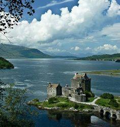 Copyright DRW Photography — at Eilean Donan Castle. Inverness Shire, Eilean Donan, Scottish Castles, Scottish Highlands, Trip Planning, Europe, Clouds, Mansions, World