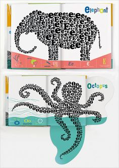 Alphabeasties is such a great children's book. Animals made entirely out of letters plus many fold-out pages. Fantastic design!