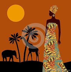 Tropical Landscape. Beautiful Black Woman. African Savannah - Download From Over 54 Million High Quality Stock Photos, Images, Vectors. Sign up for FREE today. Image: 84534996