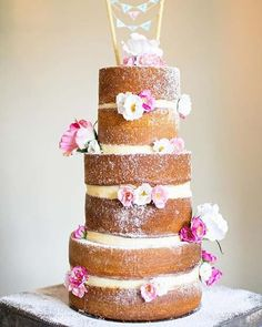 23 Stunning Spring Wedding Cakes to Inspire: #22. RUSTIC SPRING WEDDING CAKE IDEA; #springwedding; #weddingcake
