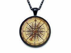 Vintage compass pendant