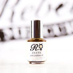 Kaffir Lime, Tuberose, Ginger, Cedarwood: Zeste A Pure Botanical Parfum Oil  9ml RollOn by rebelandmercury, $70.00