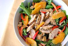Eat Yourself Skinny!: Grilled Honey-Orange Chicken Salad