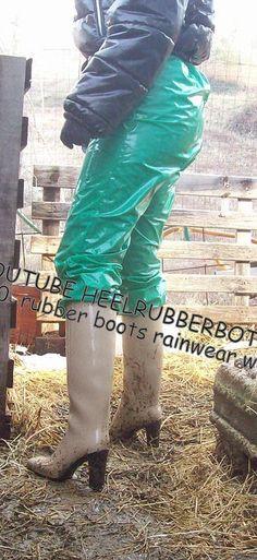 Homme Bottes Vert Festival Pêche Chasse Jardinage Bottes Boue Boot