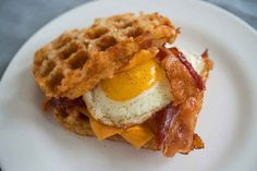 This Breakfast Sandwich Understands Your Needs - egg bacon wafflebrowns.... oh yeah, thats a hashbrown waffle!!!