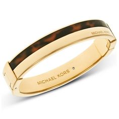 73648360f0f5 Michael Kors Gold Tortoise Hinge Bangle is available to buy online with  Fast