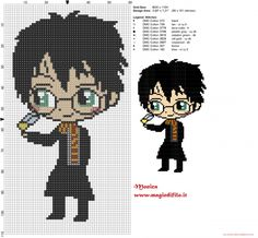 Chibi Harry Potter free pattern (60x110) by Monica (click to view)