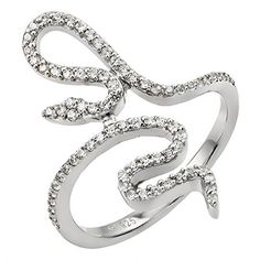 CloseoutWarehouse Black and Clear Cubic Zirconia Classic Infinity Sign Ring Sterling Silver
