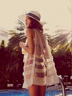 sheer cover up, beaches, summer dresses, fashion, style, ruffl, pool, swimsuit, coverup