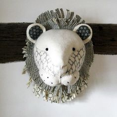 Fiona Walker Neutral Print Lion Animal Head