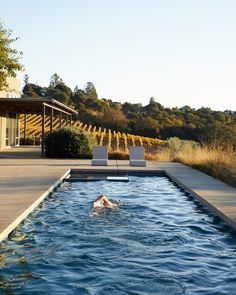"""Estate owner Stephen Singer took a golden hour swim in mid October.""""It's great for old bones to have a little less gravity on them for a while,"""" he said."""